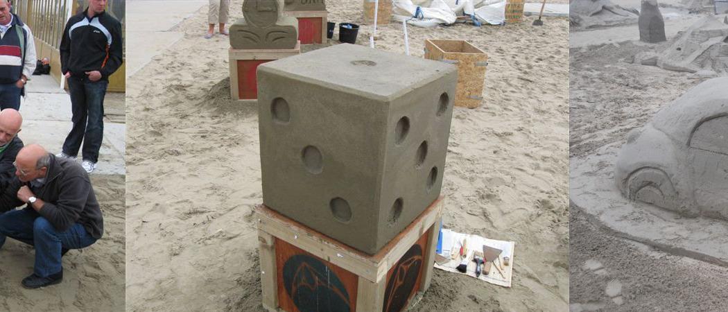 zandsculptuur bouwen